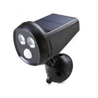Wholesale Solar Powered PIR Motion Sensor Light LED Super Bright IP65 Waterproof Oudoor Solar Wall Lamp Spotlight LED Night Light