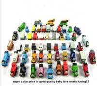 Wholesale Wooden Small Trains Cartoon Toys Styles Wooden Complete set of car toy train toys set