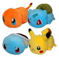 Wholesale 6 cm Anime Poke Bulbasaur Squirtle Pikachu Charmander Plush Soft Doll Stuffed Toy for kids gift EMS
