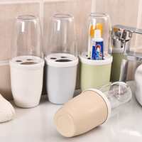 bathrooms suites - Hot new Korean Bathroom set toothbrush holder wash cup with lid travel bathroom accessories Bathroom Suite Storage Box