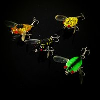 Wholesale 4 color Fishing Lure Hooks cm g cicadas Minnow Lures Hard Bait Fishing Hook Artificial Pesca Tackle Carp Fishing Accessories