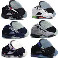 army online - New Cheap Air Retro V man basketball shoes pro stars hornets oreo black grape release sport sneaker hot online sale