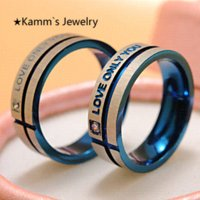 band wife - Love Couple Ring Crystal Mount Lovers Ring Sets Zinc Alloy love only you Love is For Husband Wife Weddings Ring Quality KR003