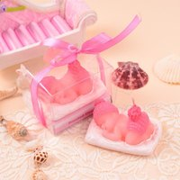 Wholesale Baby Shower Party Favor Baby Souvenirs Candle Baby Shower Gift Favors Baby Birthday Party Decoration