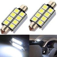 Wholesale LED Car Lamp Interior Dome Light V mm SMD Pure White Festoon Map Car Bulbs