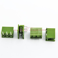 Wholesale sets PCB Screw Terminal Block Connector KF2EDGK Pin and Degree Pin Header pitch MM inch Green A V P