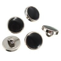 Wholesale New Arrival Beautiful Design mm Plastic Round Black With Gold Rim Dress Shirt Buttons Shank On Back Fashion