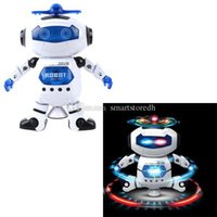 Wholesale Nice Gifts for Children Boys Electronic Walking Dancing Smart Space Robot Astronaut Kids Music Ligh A00111 OSTH