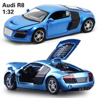 audi boy - 1 kids toys AUDI R8 metal toy cars model for children music pull back car miniatures gifts for boys