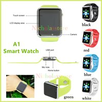 Cheap A1 Bluetooth Smart Watch with SIM Card Slot Health Watchs For Android IOS Smartphone Bracelet Smartwatch VS A1 U8 DZ09 GV18 LX16 GT08 GT88