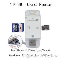 Wholesale High Speed Card Reader All in USB i Flash Drive TF SD Memory USB sd cardReader for Phone Plus ipad air touch