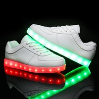 big charges - Unisex Led Light Up Flat Shoes Luminous Shoes Colorful Glowing Sneakers USB Charging Light Shoes for Little Kid Big Kid Adult