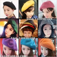 Wholesale Mix Colors Korean Woman Berets Top Quality Wool Warm Winter Beanie Hats Caps Painter Cap Colors In Stock