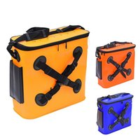 best tackle bags - 2016 best seller Rubber Fish Protection Package Bag Fishermen Fishing Bag Fish Tank with X Band Waterproof Fishing Gear Fittings