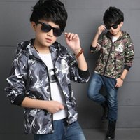 Wholesale Boys windbreaker jacket camouflage clothing boy autumn models of quality assurance orders over dollars use DHL Express