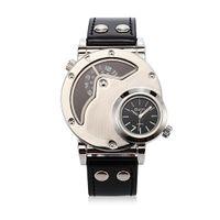 best timing belt - New Best selling Style Double Movement Men s Business Watch Flour Black Brown White Belt Watch Wholesaler
