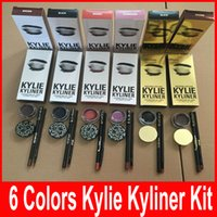 Wholesale Kylie Cosmetics Kylie Kyliner Birthday Edition In Brown AND Black Chameleon Bronze Kyliner Kit Birthday Edition Dark Bronze Set
