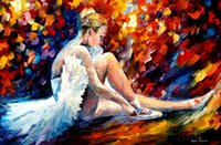 ballerina paintings - Leonid Afremov PALETTE KNIFE art home decorative abstract oil painting on canvas Young Ballerina x36inch Unframed
