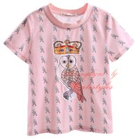Wholesale Cutestyles In Stock T Shirt For Boys Cute Animal And Crown Cartoon Pattern Print Tees Polyester O Neck Collar Baby Children Wear BT90318 L
