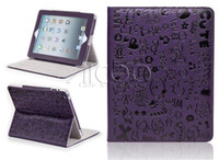 automatic print screen - Hot Sale For ipad Luxury PU Leather texure case Automatic wake sleep Magnetic Flip Cover Three Grades Stand Tablet PC Case