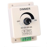 Wholesale x1pcs DC5V V V input Rotating brightness dimmer Square size led strip dimmer brightness controller