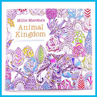 Wholesale New Coloring Books Designs Secret Garden Animal Kingdom Fantasy Dream and Enchanted Forest Pages Painting Colouring Books