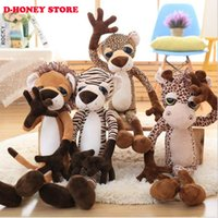 animal forest movie - New arrivals cm Cute Forest Animals Plush Toys Lion Tiger Giraffe Leopad Dolls for Kids Creative Gift Children s Gift Toys