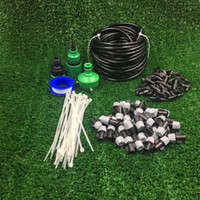 misting hose - 4 PVC Hose Garden Outdoor Patio Home Misting Cooling Irrigation System With Plastic Mist Nozzle sprinkler