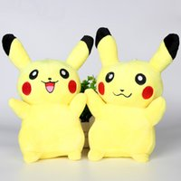 Wholesale plush toys EMS Pikachu Plush dolls cm inch Poke cartoon poke Stuffed animals toys soft Christmas toys best Gifts pk