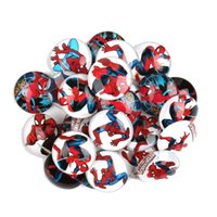 Wholesale 25mm Spider Man Glass Dome Flatback Glass Cabochons Super Man Glass Cabochon Cameo Cartoon Spider Man