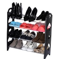 Wholesale Simple Stackable Tier Pair Shoes Free Standing Shoe Rack Chrome Metal Fashion Footwear Cabinet Storage