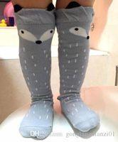 baby hosiery - 2016 pairs Baby Kid Toddlers Unisex Fox Pattern Socks Soft Cotton Knee High Hosiery Color