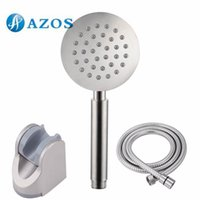 Wholesale Bathroom Handheld Shower Head with Extra Long Hose and Bracket Holder Brushed Stainless Steel Bathroom Accessories HHS006 F