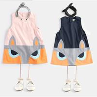 america fox - INS explosion models in Europe and America sleeveless dresses children s clothing children dress baby girls summer stitching fox