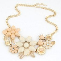 Wholesale Women Flower Collier Femme Gold Plated Choker Colares Femininos Mujer Bijoux Accessories