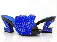 beautiful evening shoes - Royal blue Beautiful Rhinestone African Bridal Wedding Evening Shoes Fashion Wedding Shoes Heels by DHL