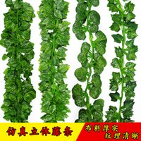 Wholesale 2 Meter long simulation leaves simulat Boston ivy Fake green vines artificial flower