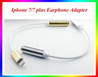 Wholesale 2016 new mm Phone Earphone Adapter For iPhone iPhone7 Plus Female to Lighting Male Headphone Headset Cord Line Cable cm