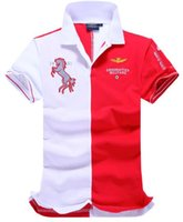 air force ones red - New air force one Top Quality embroidery men s Aeronautica militare Men Shirts Brand POLO diamond Fashion shark robin pp t shirts