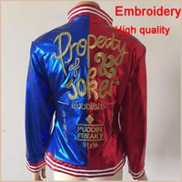 Wholesale Suicide Squad Harley Quinn Cosplay Costume Clothing Women Batman Arkham Asylum City Joker Movie Halloween Anime Top Jacket
