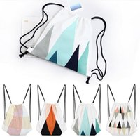Wholesale 10pcs drawstring bags traveling bag children s school bag canvas backpacks kids shopping bags promotional gift bag honestgirl09
