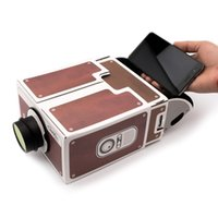 Wholesale DIY Cardboard Projector For Mobile Phone Portable Cinema Mini Smartphone Carton Projector Home Theatre Without Power Supply