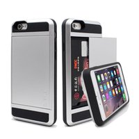 apple hood - 4 Luxury Armor Back Case For iPhone Plus Tough Hood Phone Cover With Hidden Card Slot For iPhone6 Plus