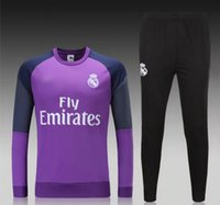 athletic training pants - 16 Real Madrid soccer tracksuit full sleeve designer football hoody adult s outdoor sport jerseys men s athletic training long pants