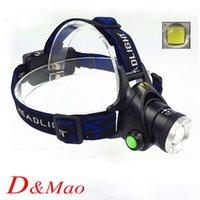 Wholesale New Lumen XM L T6 LED Zoomable Headlight Head Torch Lamp Headlamp Flashlight modes Camping Fishing Climbing lamp