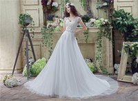 Wholesale 008 white ivory charming new hot selling top fashion V neck Appliques sweetheart wedding dress in stock size to16 USA