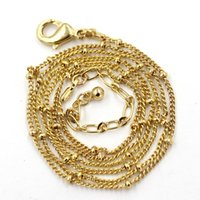 Wholesale 20 inch gold ball station necklace chains