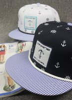 baseball hat hooks - Star with a Korean version of Metrosexual dock anchor hook embroidery Pirate Hat Baseball Hat flat hip hop