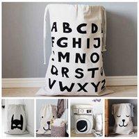 Zakka grands sacs de rangement Cartoon Enfants Bébé Jouer Mat Jouets Vêtements Organizer Enfants Blanchisserie Sac Simple Home Decor