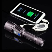 Wholesale Waterproof Outdoor Camping Equipment Upgrades Intelligent Lamp LED Emergency Light hiking flashlights support mobile charging